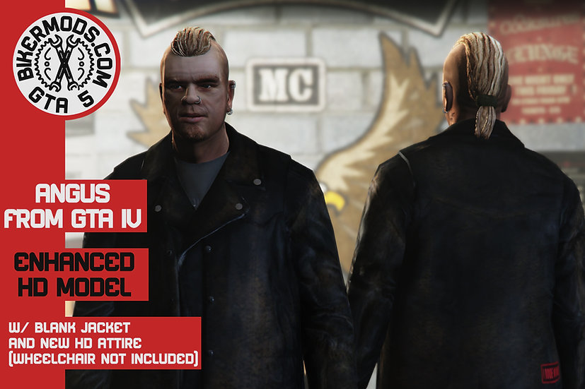 Angus (GTA:IV TLAD) HD Enhanced