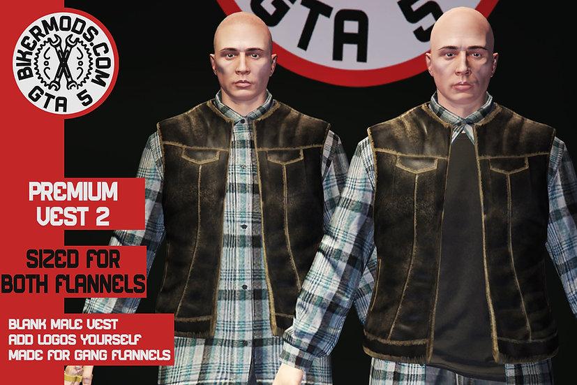 Premium Vest 2 (Gang Flannel Size) Both Flannel Styles