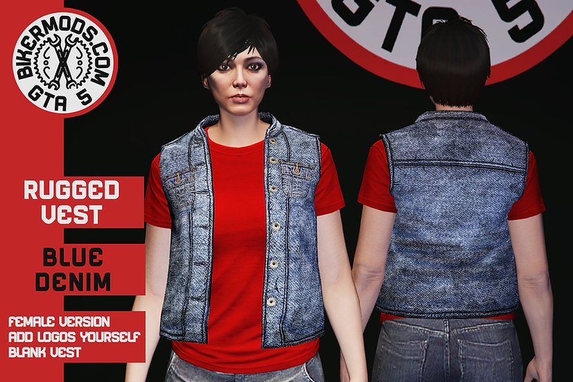 Rugged Blue Denim Vest (Female)