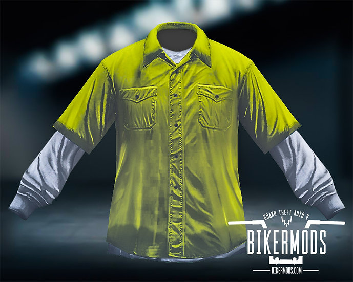 Yellow Flannel White Shirt Combo