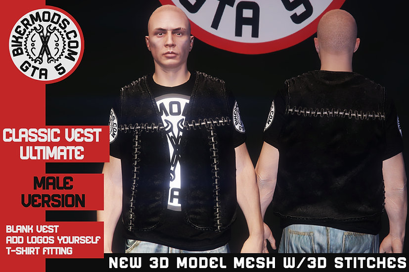 Classic Ultimate Vest (New 3D Model w/ 3D Stitches)