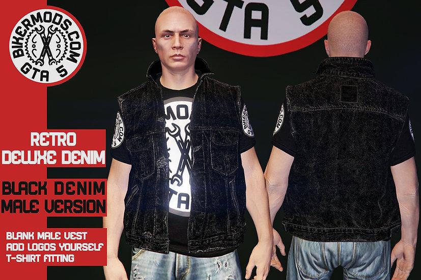 Retro Deluxe Denim Vest (Black Denim)
