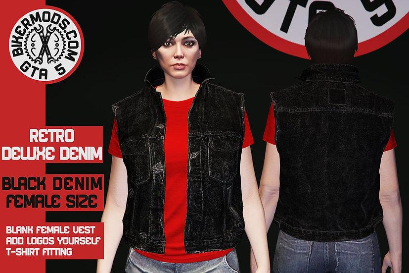 Retro Deluxe Denim Vest (Black Denim) Female