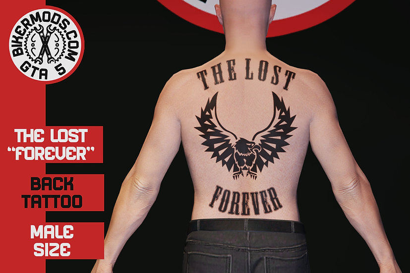 The Lost Forever Back Tattoo