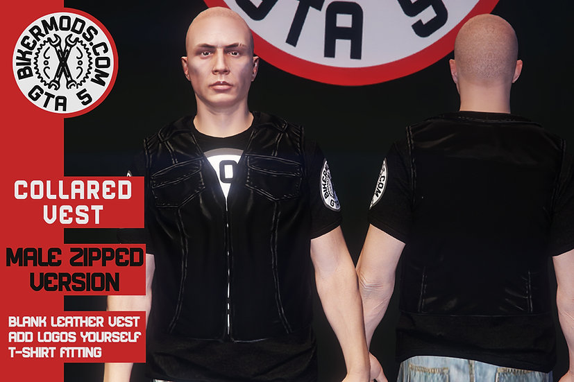 Collared Vest (Closed/Zipped Version)