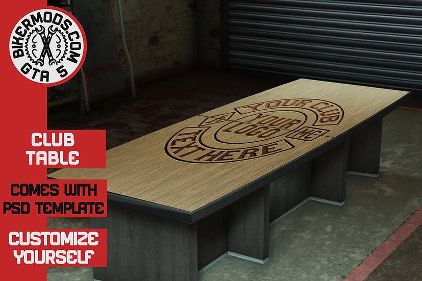 Custom Club Table (PSD Template Included)
