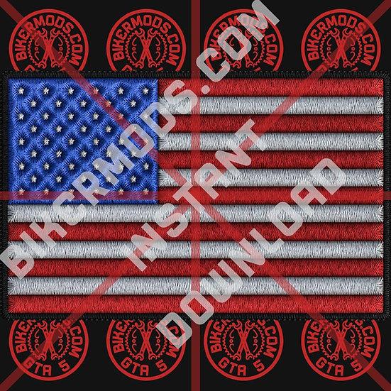 USA Flag HD Emblem (Instant Download)
