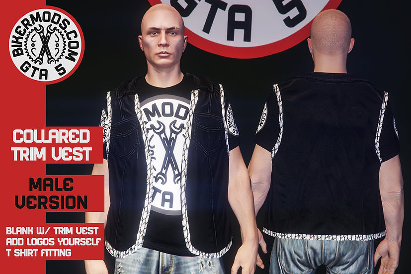 Collared Vest W/ Trim