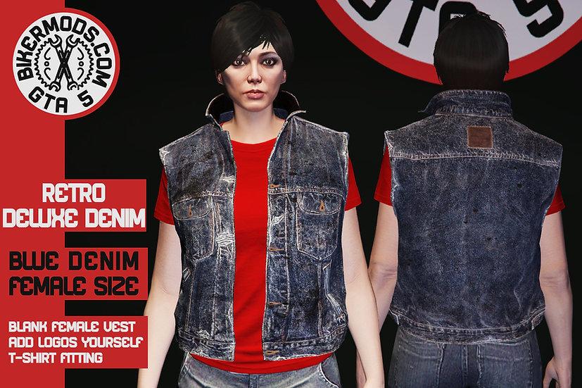 Retro Deluxe Denim Vest (Blue Denim) Female