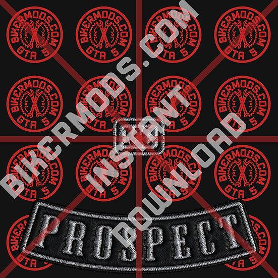 Lost MC Prospect Emblem (Black Base / White Text) Instant Download