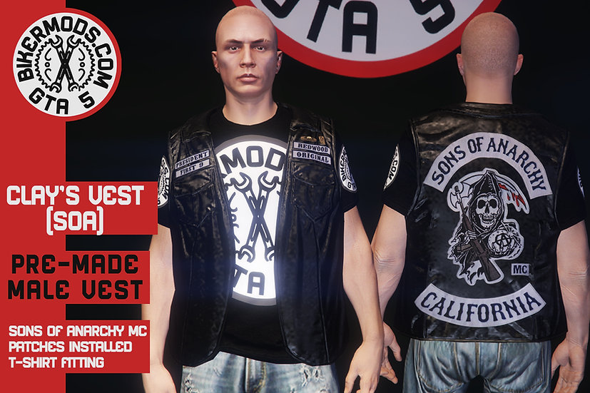 Clay Morrow's (Sons of Anarchy) Pre-made Vest