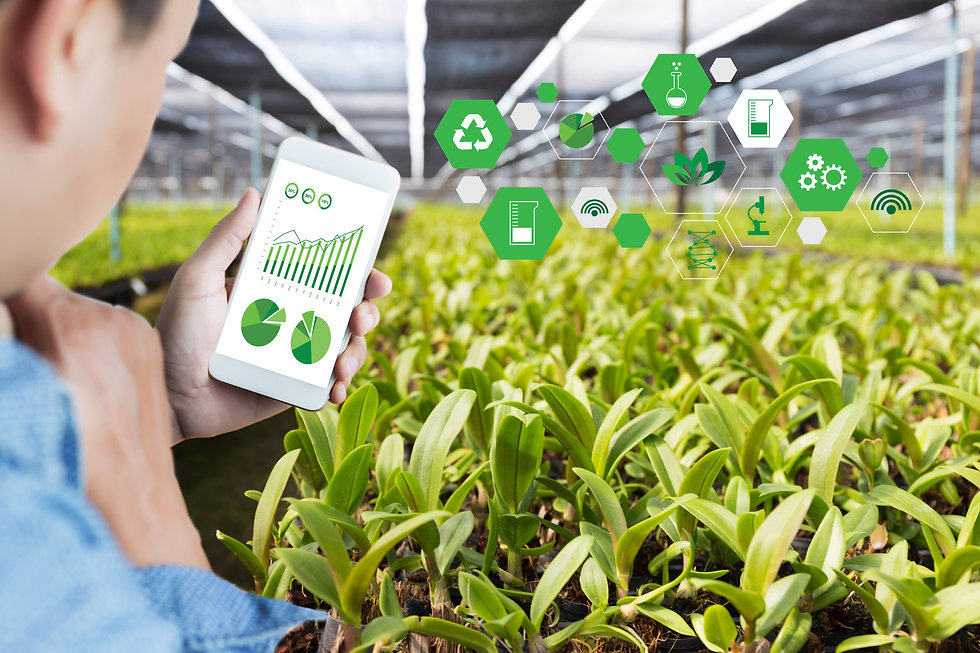 agriculture technology concept man Agron