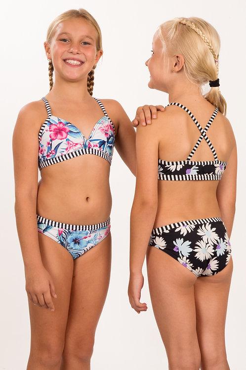 Triangle X-back bikini top and binding pant