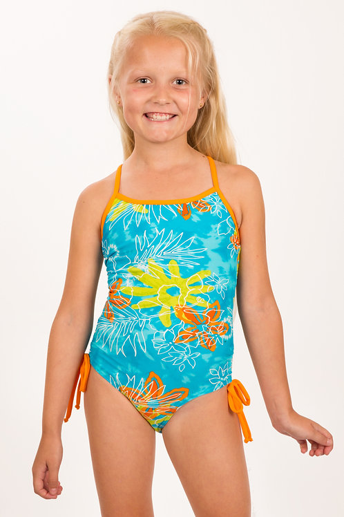 Ruched hip X-back One-piece