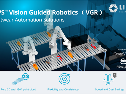 LIPS® Vision Guided Robotics (VGR) for Footwear Automation with LIPSedge™ AE400