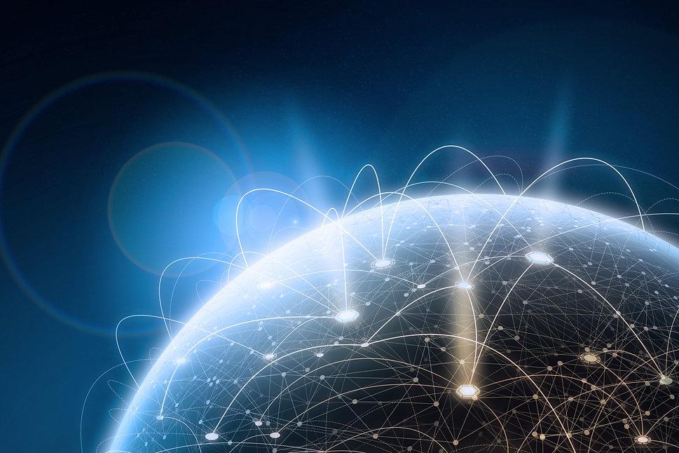 Global network concept. 3D rendering ele