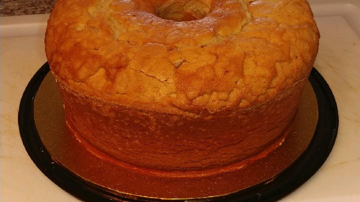 Glazed Sour Cream Pound Cake