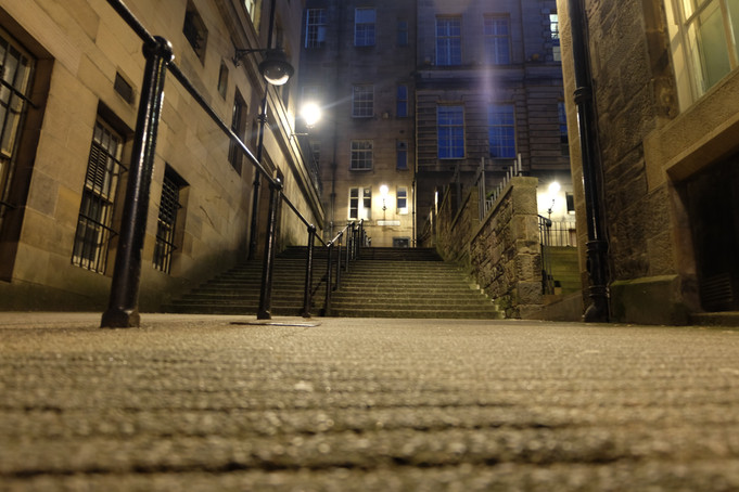 The steep climb up Warriston Close