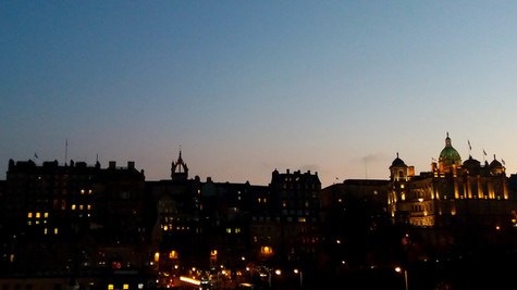 Old Town skyline from Princes Street