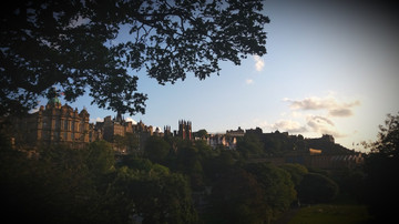 The Old Town over Princes Street Gardens