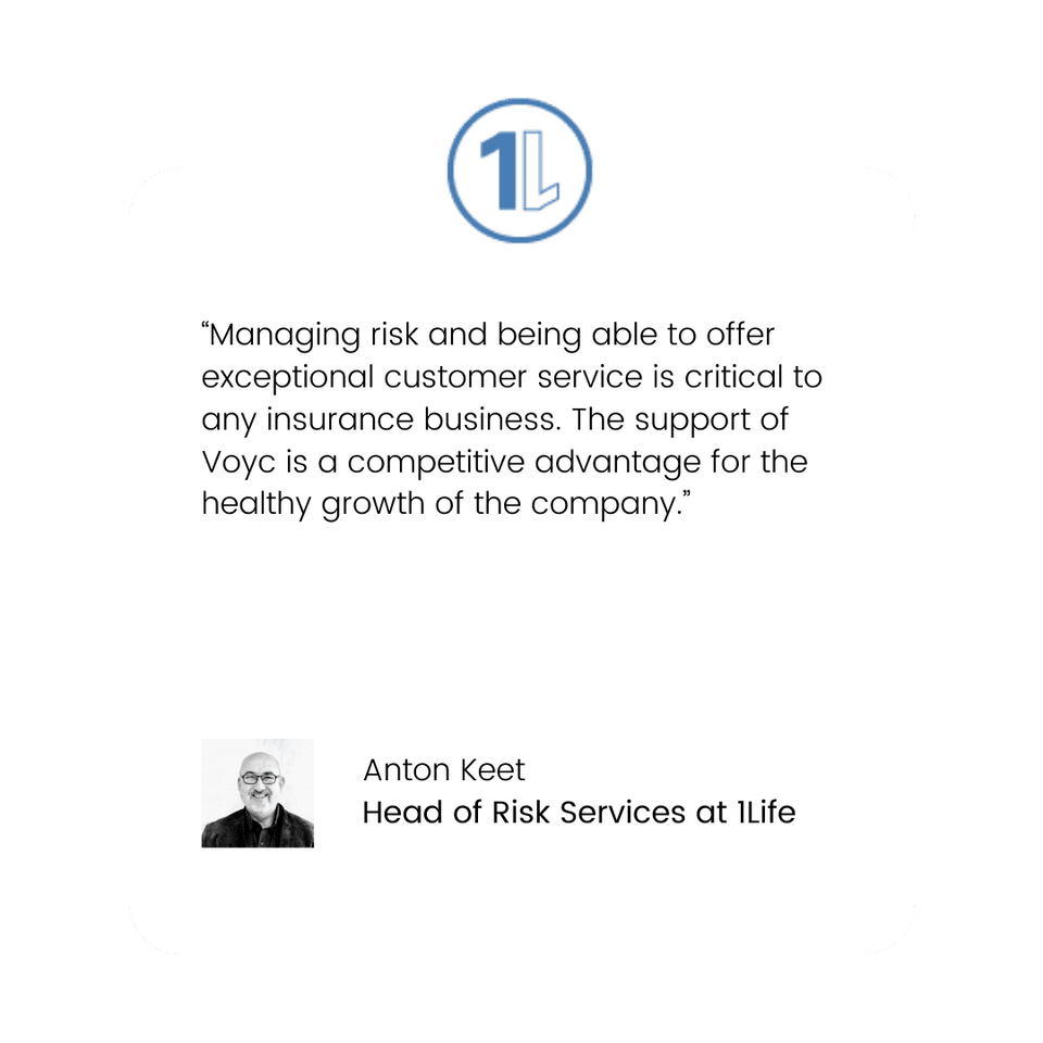 Voyc Customer Quote - 1Life Head of Risk