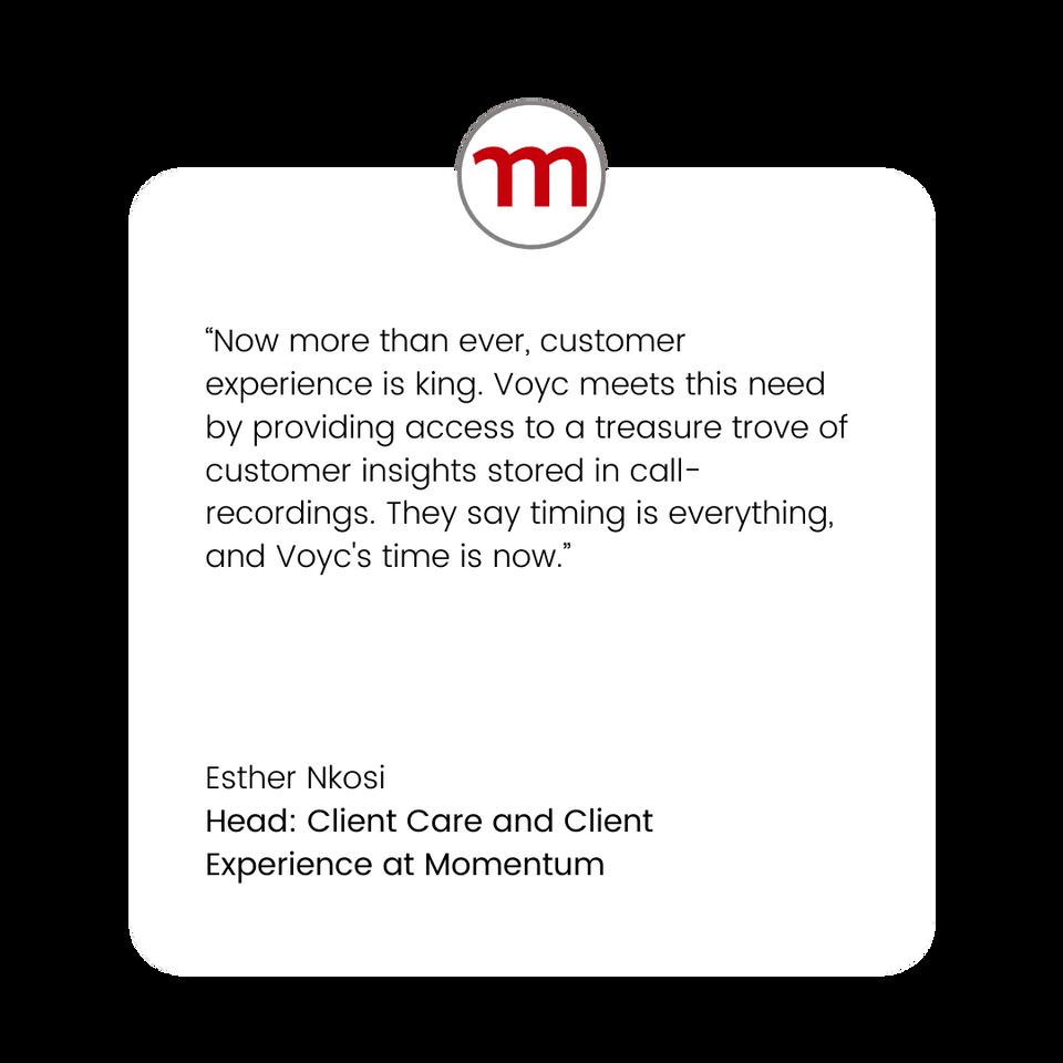 Voyc Customer Quote - Momentum Head of C