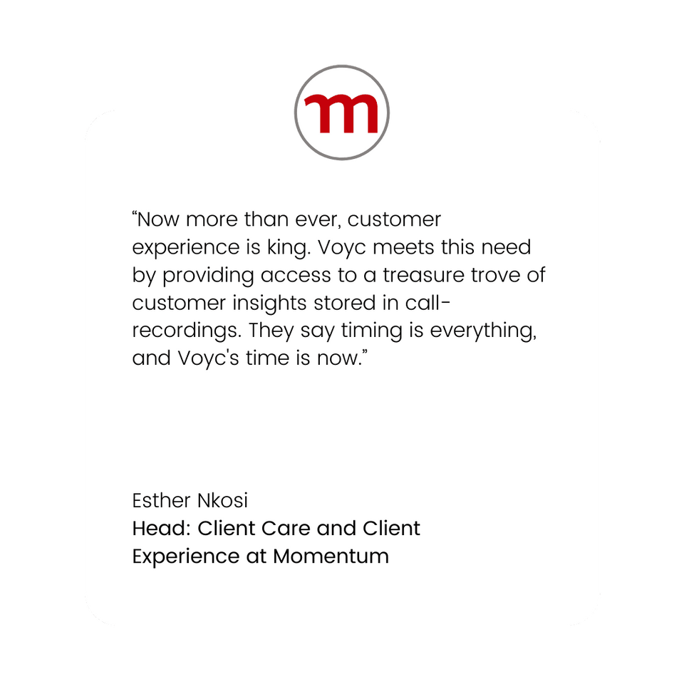 Voyc Customer Quote - Momentum Head of C