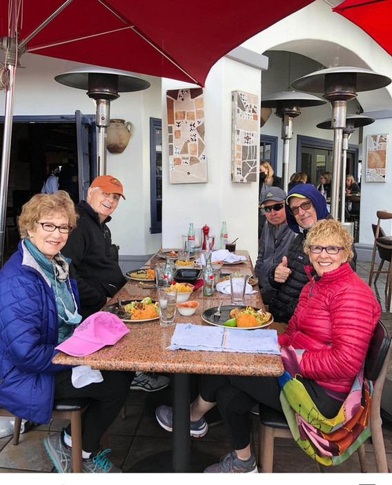 3/12/21 - Live Oak Canyon - Some post-walk lunch in the rain!