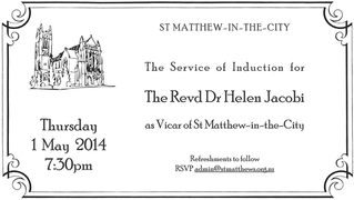 The induction of the Revd Helen Jacobi