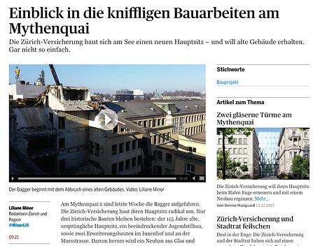 Baukommunikation Swiss Re Next