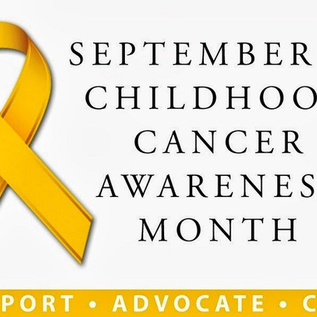 Go Gold! It's Childhood Cancer Awareness Month