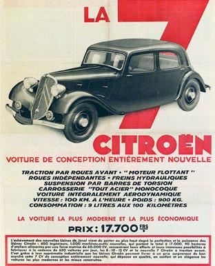 Citroën fête les 80 ans de sa traction avant...