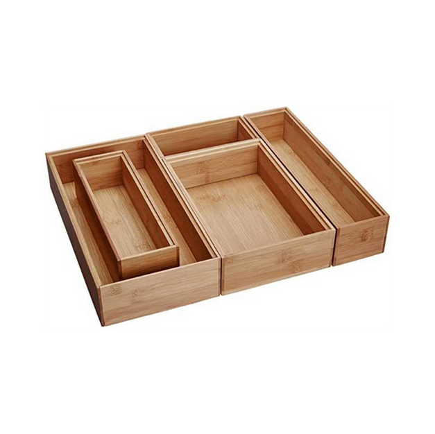 Bamboo Drawer Organizer Boxes