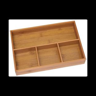 Bamboo 4-Compartment Organizer Tray