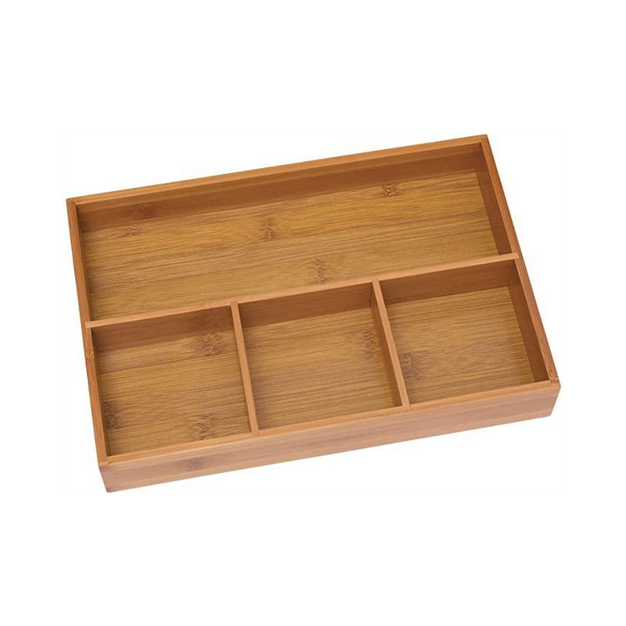 Bamboo 4-Compartment Organizer Tray