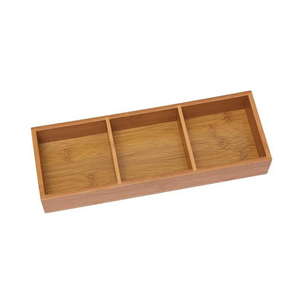 Bamboo 3-Compartment Organizer Tray
