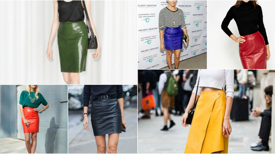 Inspiration: an ode to leather skirts