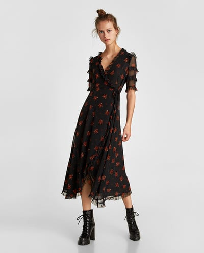 Inspiration: the patterned midi dress trend