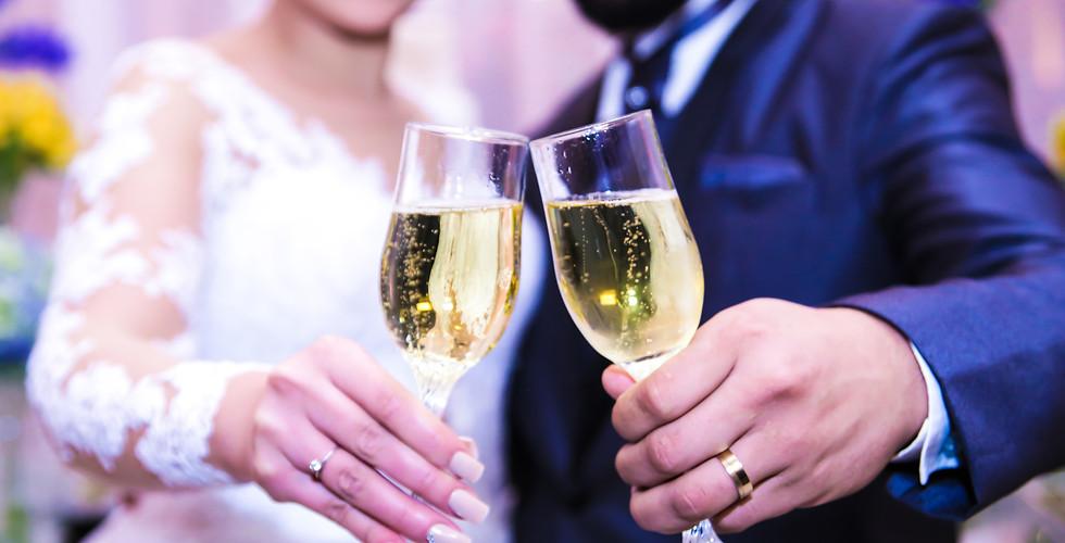 foto do brinde casamento
