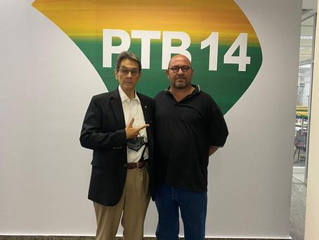 Tabanez (PROS) e Roberto Jeferson (PTB) se reúnem e traçam planos