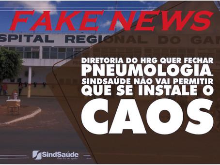 Notícia do Sind Saúde é FAKE NEWS