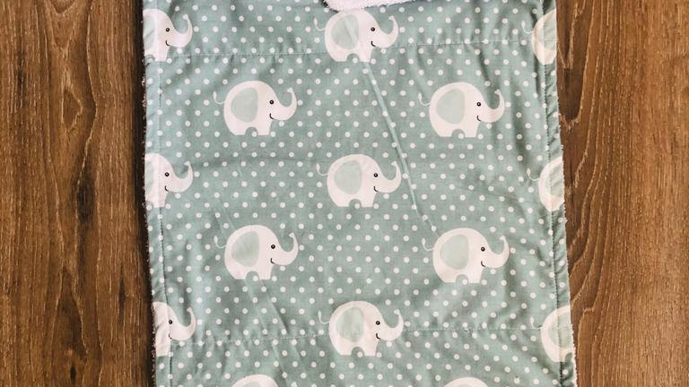 Elephant Burping Cloth