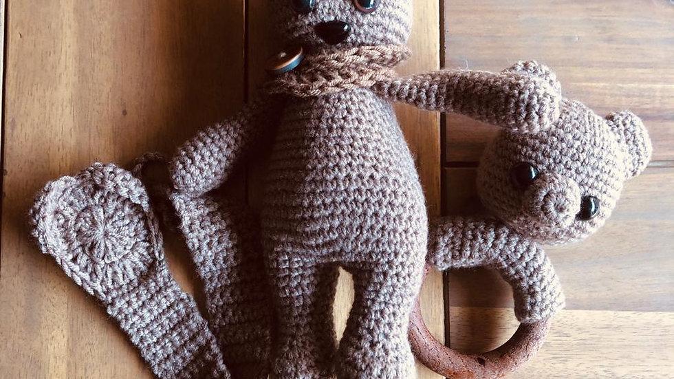 Teddy, Teether and Dummy Strap (Customisable)
