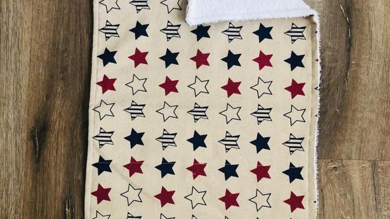 Stars Burping Cloth