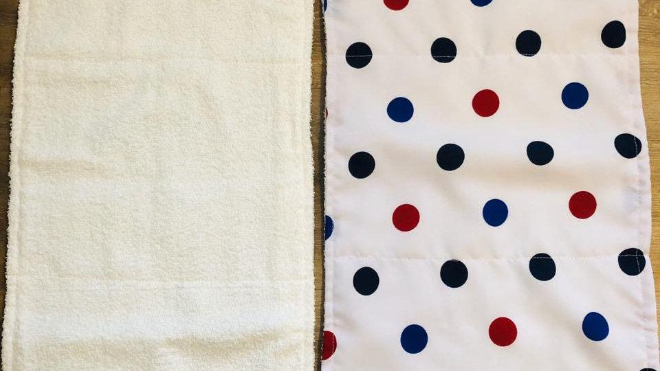 Polka-dot Burp Cloth