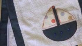 Boat Burp Cloth
