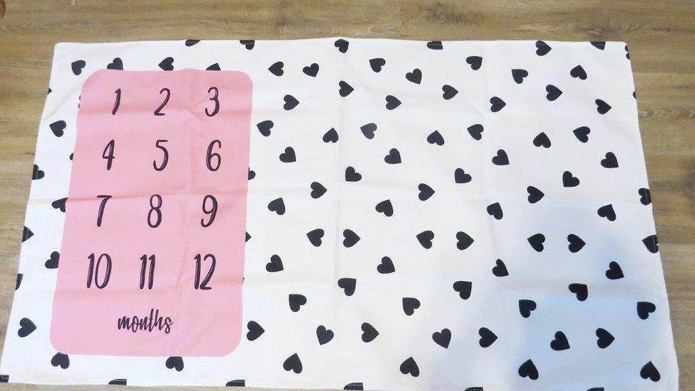 Hearts Milestone Blanket