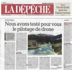 Article Dronespace65 -  La dépêche du Mi