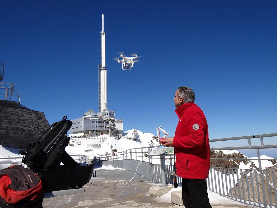 Drone au Pic du Midi
