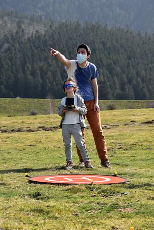 Formation au pilotage de drones à Payolle